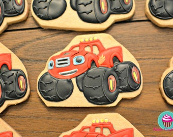 Blaze and the Monster Machines Inspired Cookies