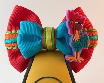 Moana Collection - Hei Hei inspired Walt Disney World Magic Band Bow / Apple Watch Accessory ** Hat Bow Option**