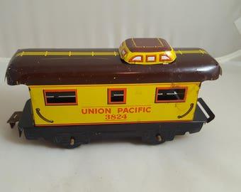1940s Marx Tin Litho Caboose Union Pacific O Scale 3824