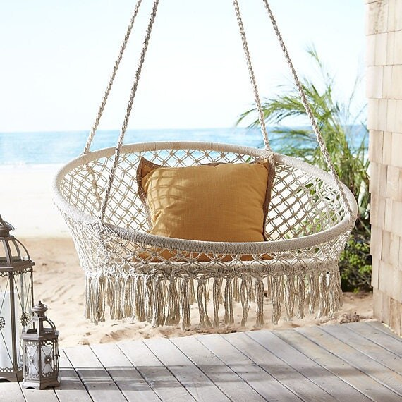 Macrame Hanging Chair / Hammock Chair