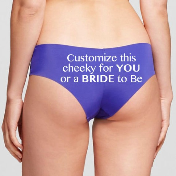 Customize this blue panty for you or a bride to be * FAST SHIPPING * Bachelorette Party Gift, Personalized Panties, Custom Underwear