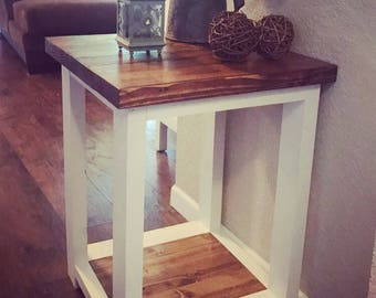 Rustic End Table/Nightstand (Local Pickup Only)