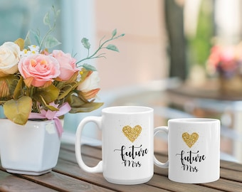 Future Mrs Mug, engagement mug, personalized mug, bridal shower, engagement gift, wedding gift, bachelorette party, wedding gift, coffee mug