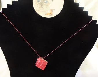 paper rose, Christian cross pendant