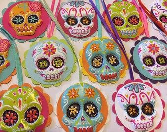 Sugar skull gift tags, favor tags, Dia de los Muertos, Day of the Dead, Halloween