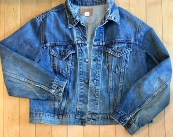 Levi Strauss 70s 80s Denim Blue Jean Jacket WPL 423 USA 2 Pocket Levi's Size M