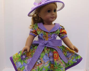 """American Girl Doll & Other 18"""" Doll Dress in Purple"""
