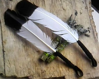 Eagle Smudge Feather - Imitation fans feathers smudging sage healing therapys holistic  pagan ceremony shamanic