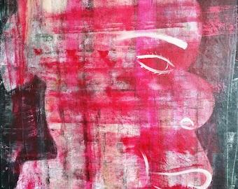 Acrylic modern painting - canvas on frame 80 x 60 cm