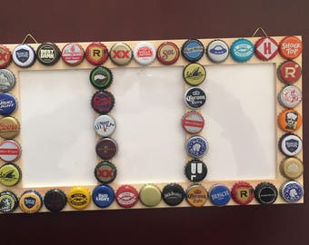Hanging Bottle Cap Picture Frame