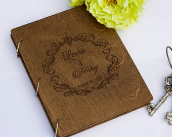 Wedding album, wedding photo album, wedding guest book, photo guest book, wood album, custom guest book, personalized album, custom wedding