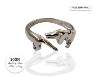 Dachshund Ring  / Silver ring dog / Sausage Dog Silver Ring / 925 Silver / weiner dog ring / doxie ring / Made to order