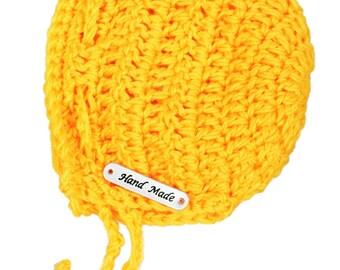 Crochet baby bonnet/ newborn bonnet with strap/ Australia winter/crochet beanie