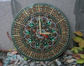 Mirror wall clock.Decor wall clock.Glass wall clock