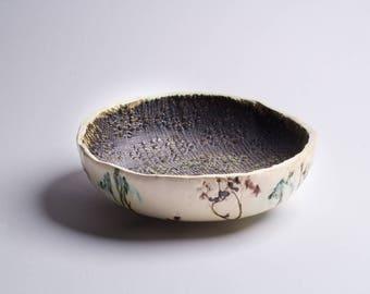 rustic ceramic bowl | handmade ceramic serving bowl | small salad bowl | handmade bowl | housewarming gift | vintage bowl | fruit bowl