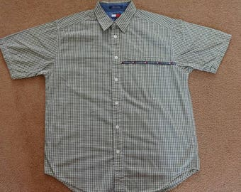 Vintage Tommy Hilfiger short sleeve button down.