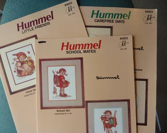 Cross Stitch Pattern Books, Set of 3 - Hummel School Mates, Little Friends and Carefree Days (S104)