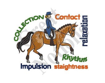 Dressage Terms - Machine Embroidery Design