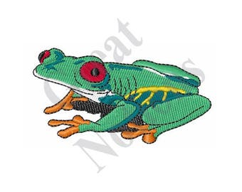 Red Eyed Tree Frog - Machine Embroidery Design