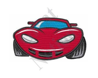Little Red Car - Machine Embroidery Design