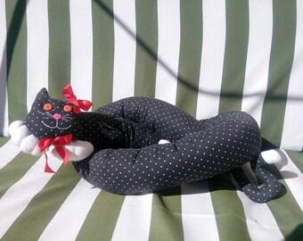 Door weatherstrip gattolungo, gattolungo 1.50 m, gray polka dots