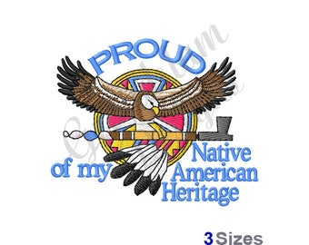 Native American Heritage - Machine Embroidery Design
