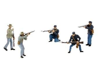 Civil War Miniature Soldier Figures Diorama Kit / Mini Civil War Solider Set/ Civil War Scene Set