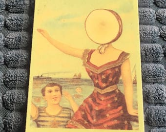 "Neutral Milk Hotel ""In The Aeroplane Over The Sea"" lyrics keepsake card"