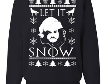 Let It Snow GoT Jon Snow Ugly Christmas Sweater Unisex Crewneck Sweatshirt