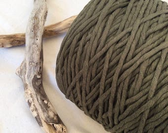 Hunter Green* 5mm cotton string, macrame Supplies, weave, tapestry, craft supplies, green string