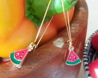 Fizzy watermelon earrings