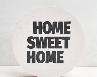 """Picture """"Home Sweet Home"""" round"""