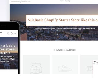 Starter Store, Shopify Website, Turn-Key, E Commerce Website, Basic Store Set Up, Ownership, Personalized Theme, Made to Order, Ready Made