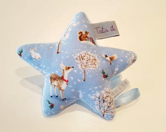 "Plush star rattle ""sweetness of winter"""