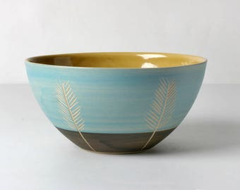 Hand thrown bowl of Müsli, gifts for the she