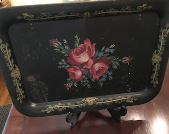 Toile Painted Tray Top