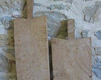 French cutting boards, pair of antique chopping blocks