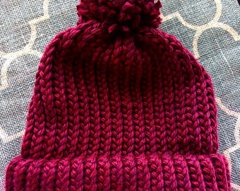 Loom-knitted Adult sized Beanie