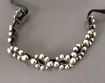 Sterling Silver Choker Necklace / Hand Made / 925 Silver Mexico /