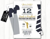 NEW 2018 Temple & Priesthood Preparation Invitation | Navy, Gray, Gold | LDS Primary Invite  | Personalized Digital Download 4x6 or 5x7 JPG