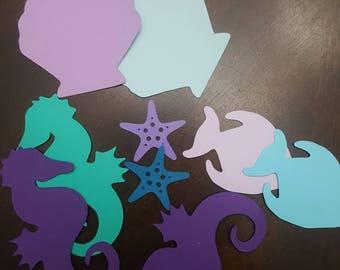 Mermaid themed - Cardstock Sea Creatures
