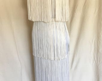 70's Vintage Fringed Evening Dress by Addé California