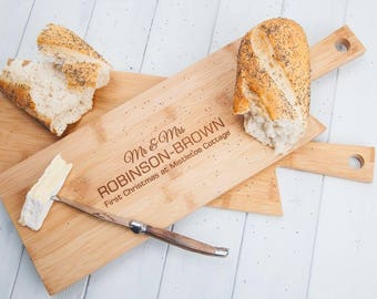 Personalised Long Handle Chopping Board Or Cheese Board