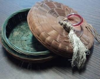 Vintage Antique Wicker Basket