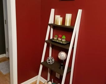 2-Tone Ladder Shelf/Bookcase