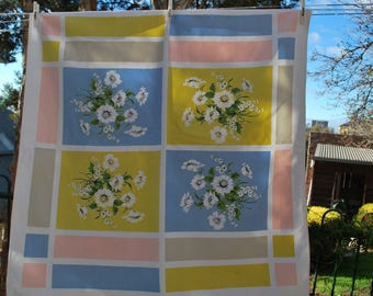 Pretty Retro Tablecloth in Pastel Colours