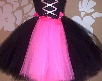Halloween Witch Costume, Witch Fancy Dress Tutu. Handmade Halloween Witch Outfit, Tulle Tutu Witch Dress, Halloween Witch Dress