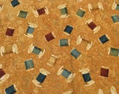 A Stitch in Time Copper Spools Stonehenge Northcott  Fabric 1 Yard Cut, Northcott Stonehenge Deborah Edwards, 21332-34