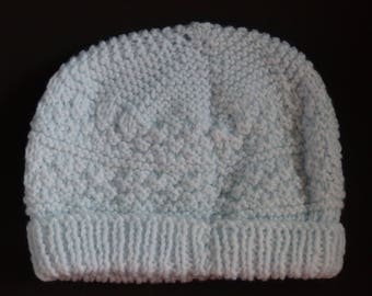 Pale Blue Knitted Beanie
