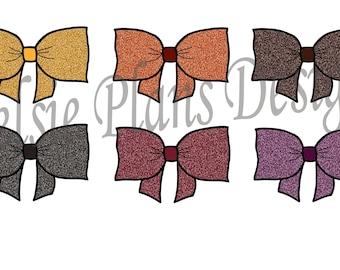 Bow Tabs - Autumn Glitter